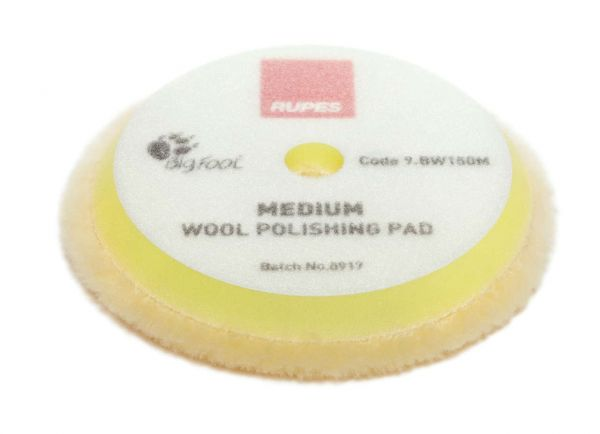 Rupes Yellow Wool Polishing Pad Medium Ø 150 mm 2 ér Pack