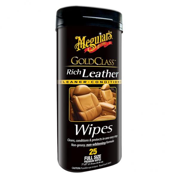 Meguiar's Gold Class Reinigungs- und Pflegetücher für Leder