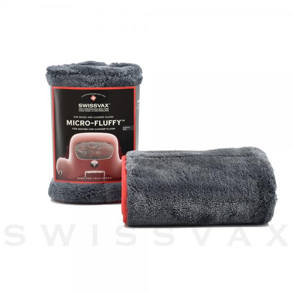 Swissvax Micro-Fluffy Doppelflausch Poliertuch, anthrazit/rot oder anthrazit/anthrazit