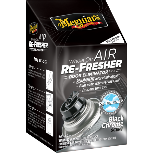 Meguiar's Whole Car Air Re-fresher – Black Chrome, 60 ml