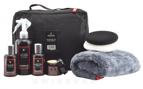Swissvax Discovery Kit mit Blau-Weiss Autowachs (BMW)