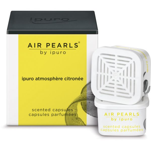 ipuro Air Pearl Capsules, atmosphère citronée, 2 x 6g