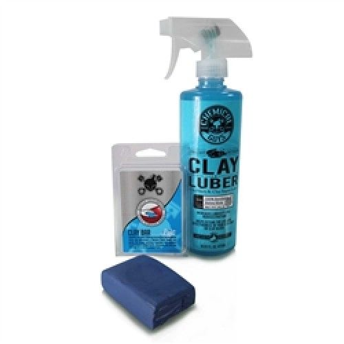 Chemical Guys Kit mit Lackknete Blau & Luber Gleitmittel
