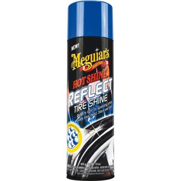 Meguiar's Hot Shine Reflect Tyre Shine, Reifenschwärzer, 425 gr