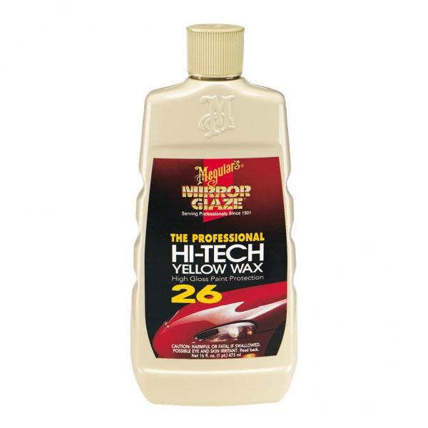 Meguiar's Gelbes Hi-Tech Wachs - Enthält gebundene Silikone, überlackierbar, 0,473 - 3.78 Liter