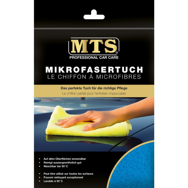 MTS Mikrofasertuch, Frottéegewebe, Blau, 40 x 40 cm